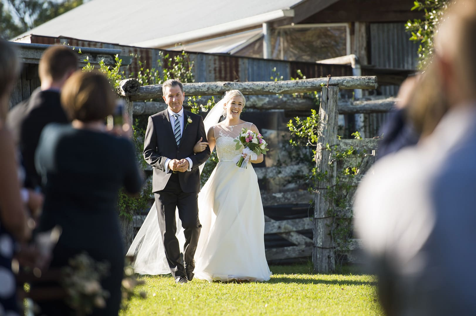 Yandina Station Experience walking down the aisle